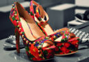 Red Printed Pump High Heels Patent