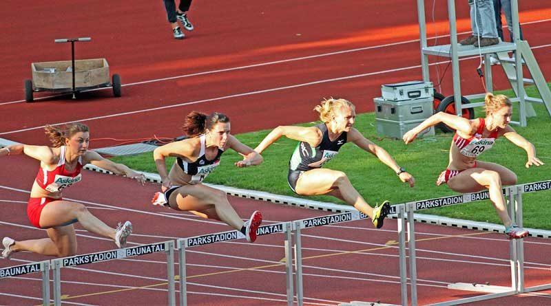 Women's 400-Meter hurdles race