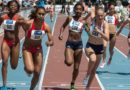 Women in 4X400 meter  Raley race