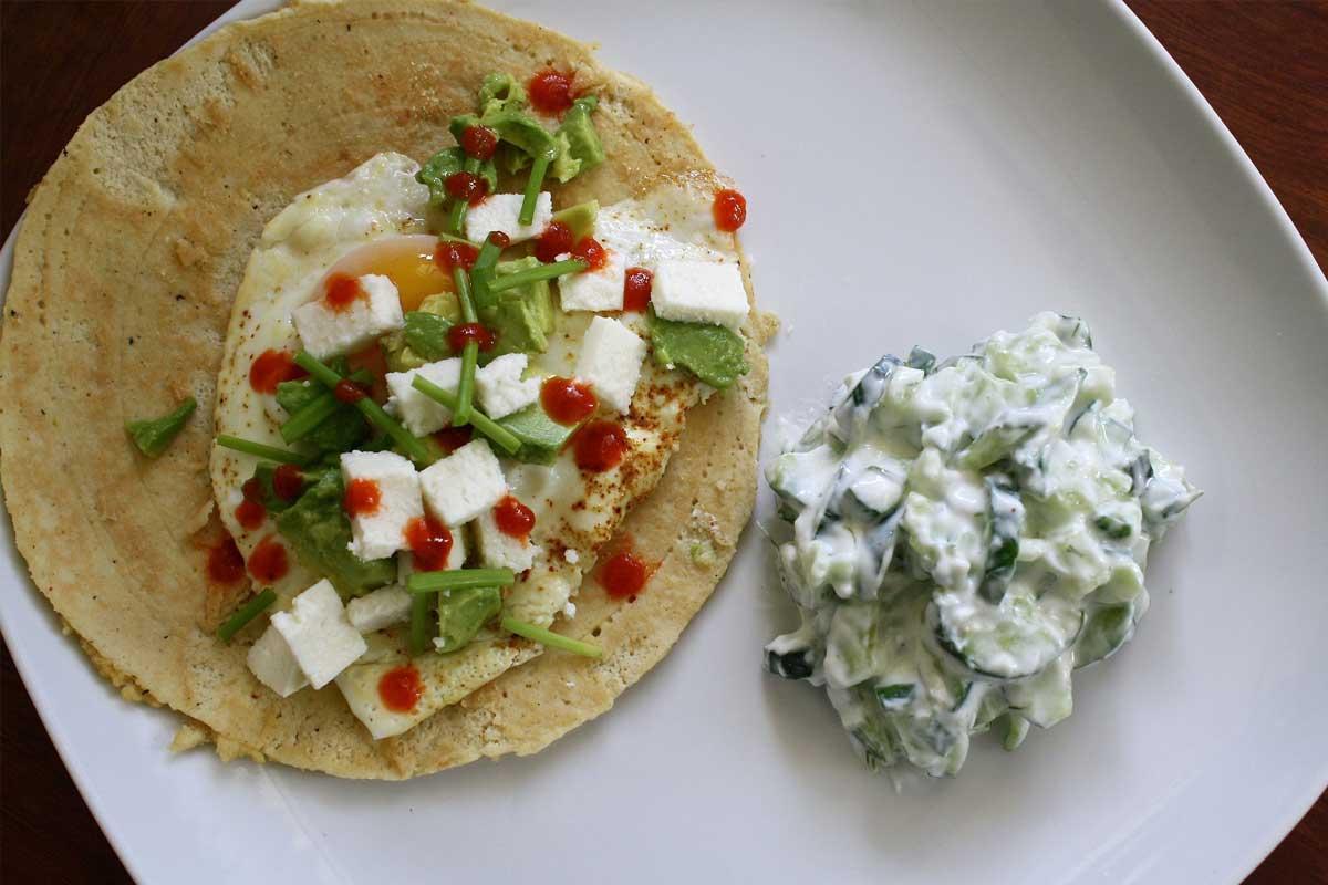 Tortilla breakfast Mexican lunch / Breakfast