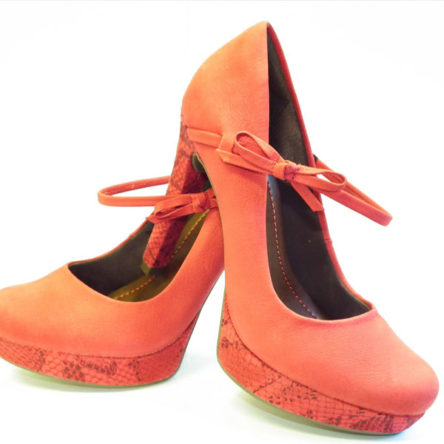 Orange Colored shoes for woman