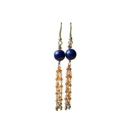 Goldplated Crystal Flower Leverback Earrings